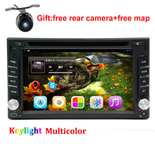 6.2 Inch Android 5.1 Double Din Car dvd Player universal 2 din car radio stereo gps navigaton with usb/map/bluetooth/3g/wifi