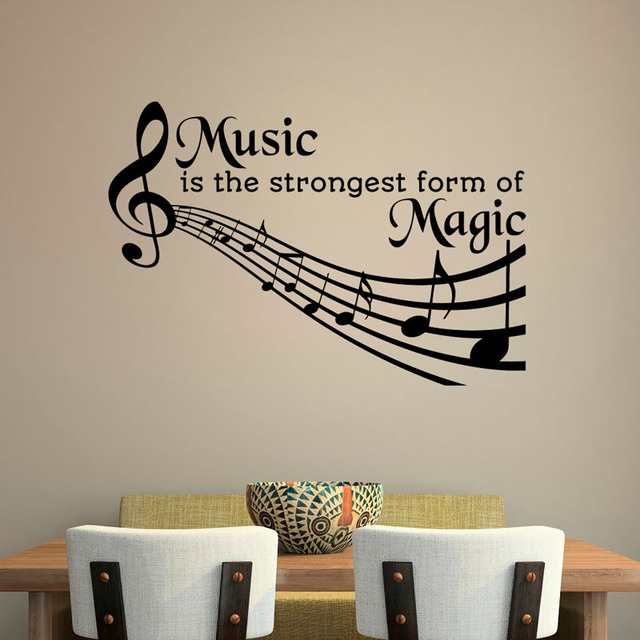 Music Is The Strongest Form Of Magic Wall Decals Removable DIY