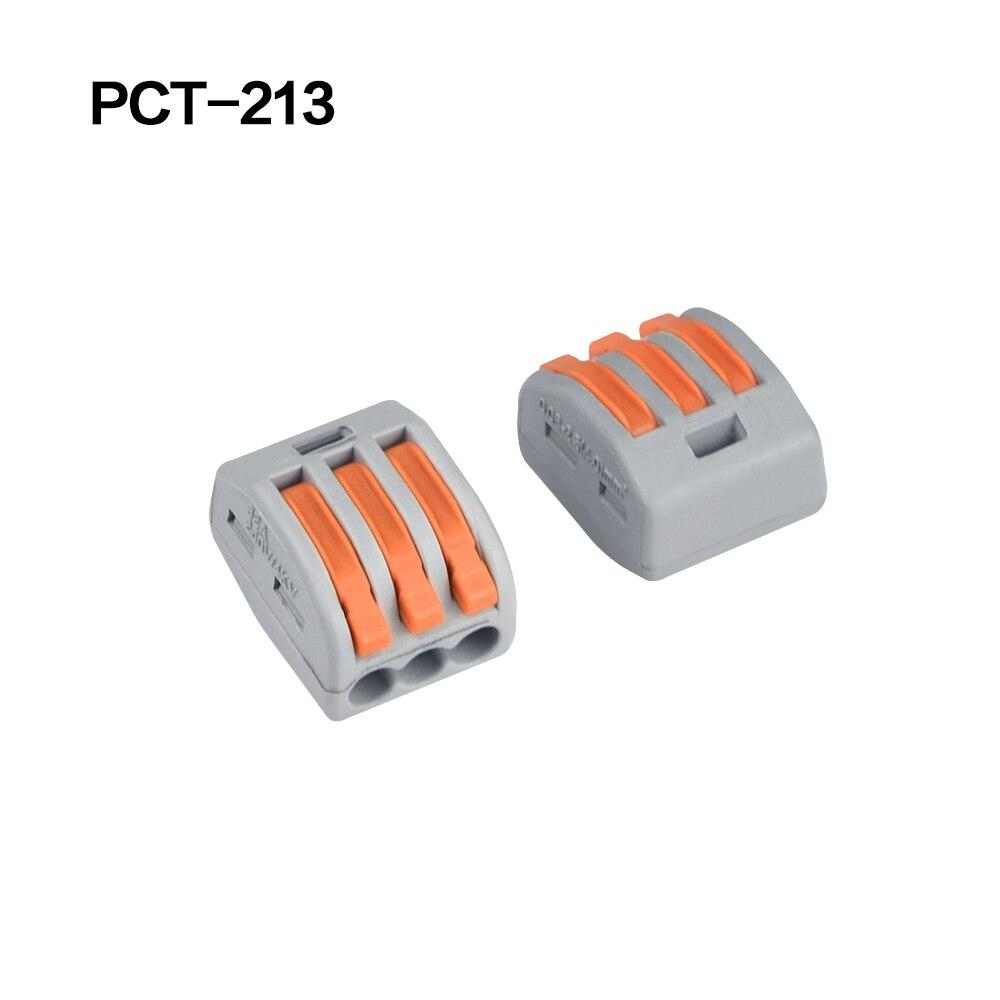 100/20/10 шт. 222-412 222-413 222-415 клеммы соединители 0,08-2,5 мм мини-разъем провода Проводник винторезный станок сплиттер - Цвет: 222-413