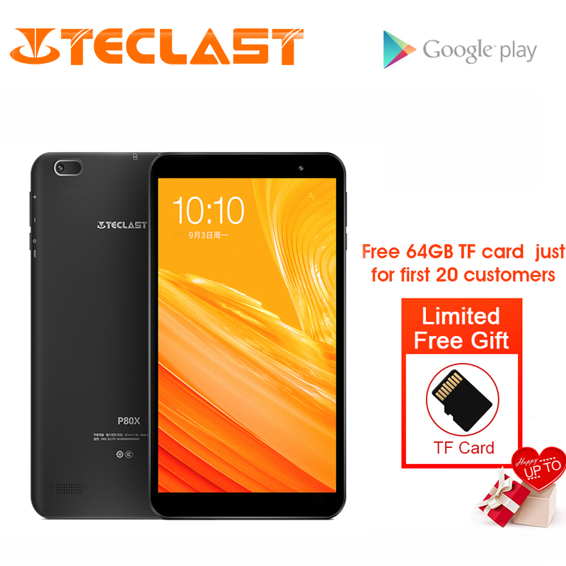 Teclast P80X 8inch 4G Tablet Android 9.0 SC9863A IMG GX6250 Octa Core 1.6GHz 2GB RAM 16GB ROM Dual Cameras Tablet+64GB TF Card-in Tablets from Computer & Office on Aliexpress.com | Alibaba Group