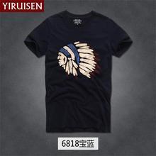 Новая Мода известный бренд YiRuiSen Футболка мужская хлопок abercr для ombi Мужская футболка, летняя стильная футболка
