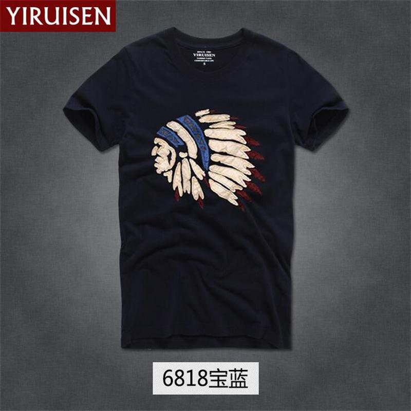 2019 New fashion Famous brand YiRuiSen   t     shirt   men 100 % cotton abercr for ombi men   T  -  shirt  ,summer style   t  -  shirt   free shipiping