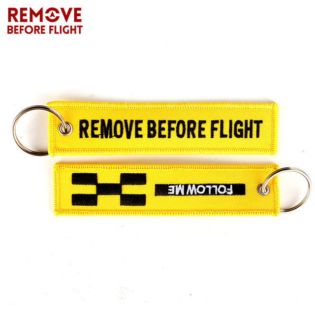 REMOVE BEFORE FLIGHT Novelty Keychain Launch Key Chain Bijoux Keychains for Motorcycles and Cars Key Tag New Embroidery Key Fobs 3