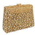 Purple Box Diamond Women Clutch Bag Crystal Party Handbag Ladies Banquet Purse Fashion Pochette Prom Evening bag SC452