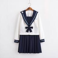 Girls Boys School Uniform Top+skirt+tie Korean Japanese JK Sets Autumn High School Women Men Novelty Sailor Suits S XXL C65154AD