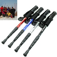 New Durable Adjustable AntiShock Hiking Trekking Walking Pole Cane Stick Crutch
