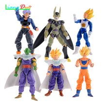1pcs Seven dragon ball Anime model mobile joint face changing doll goku BeeK speelgoed voor kinderen Toys