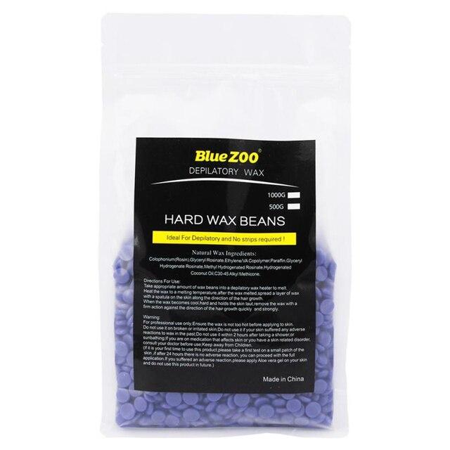 を Bluezoo ハードワックス豆 500 グラムブラジル脱毛ホットフィルムハードワックスペレットワックスがけビキニ脱毛豆プロ