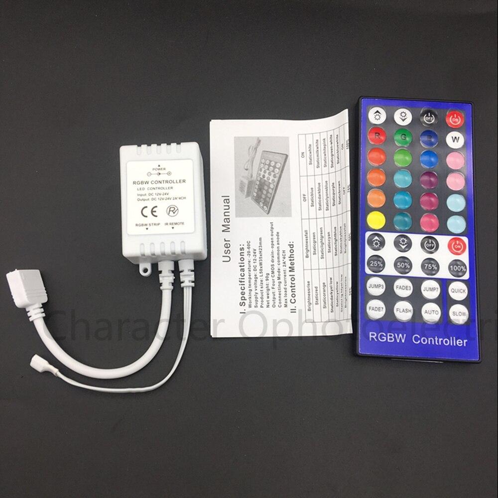RGBW LED Controller DC12V 40Key IR Remote Controller For RGBW Or RGBWW LED Strip Lights.