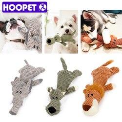Hoopet animal de estimação brinquedo forma animal leão elefante som mastigar três cores brinquedos interativos