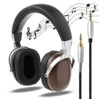 BOSSHIFI B8 Stereo Wooden Over ear Black Mahogany Earphone Headphone Headset