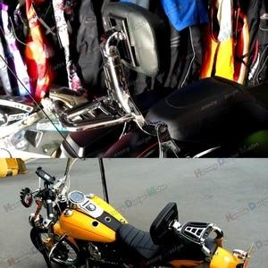 Image 5 - Хромированная многофункциональная регулируемая спинка для водителя и пассажира, для Harley Touring Street Glide Road King, мягкая задняя крышка