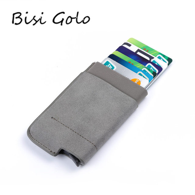 Bisi goro 2018 men and women business credit card holder wallets bisi goro 2018 men and women business credit card holder wallets pocket case rfid 6 cards reheart Choice Image