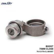 TANSKY – Boost Activated Exhaust Cutout/Dump 70MM CLOSED Style Pressure: about 1 BAR For FORD MUSTANG 3.8L V6 TK-CUT70-CL-BOOST