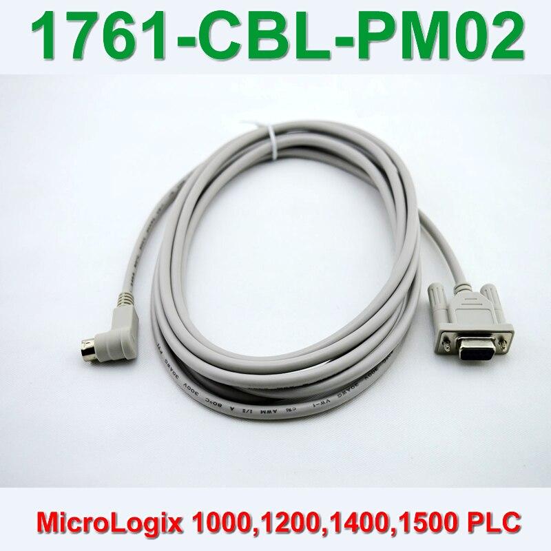 1761-cbl-pm02 para allen bradley micrologix 1000 séries plc cabo de programação, 90 dgree, transporte rápido