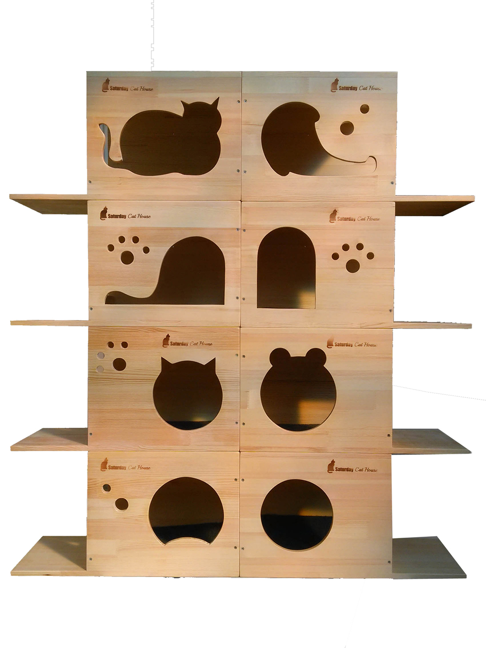 Wood Cat Furniture Part - 28: Aliexpress.com : Buy 4 Box Natural Wood Cat Tree Cats Climbing Cat Scratch  Pet Toy Solid Wooden Wall Hanging Cats Waterloo Pet House Size 40*30*32cm  From ...