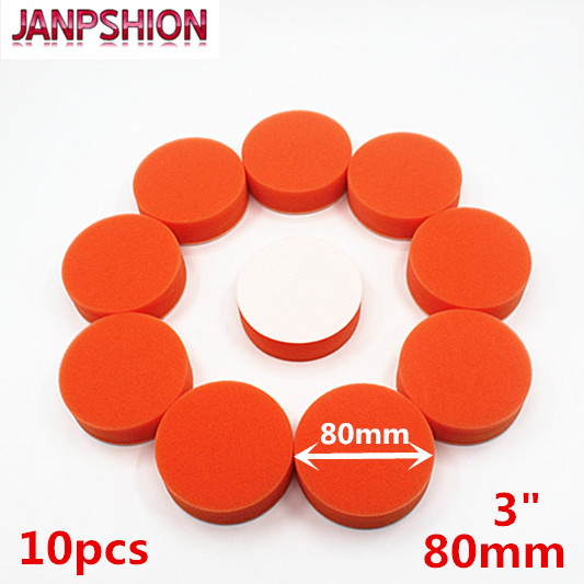 JANPSHION 10PC 80mm 3 flat sponge Gross Polishing Buffing Pad Kit for Car Polisher Clean waxing Auto paint maintenance care used original 90% adf maintenance kit 525mfp for hp575 725 775 7500 adf maintenance kit