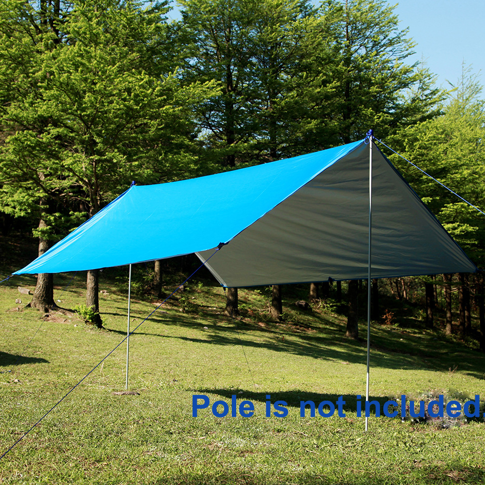 Sun Shelter Tent Waterproof Awning Hiking Portable Canopy Outdoor Gazebo C&ing Tent 3*3m Big Size Silver Coating Tarp Tent-in Sun Shelter from Sports ... & Sun Shelter Tent Waterproof Awning Hiking Portable Canopy Outdoor ...