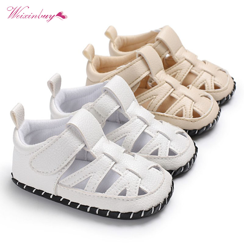 2018 Summer Fashion Baby Boys Shoes Infant Toddler Shoes Soft Sole Indoor Climb Beach Bo ...