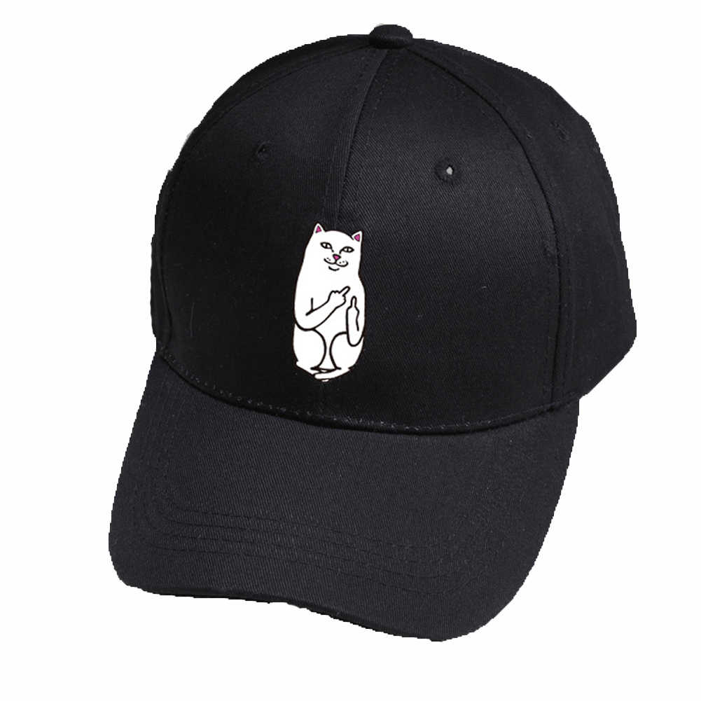acdc7680 ... Finger Cat Embroidery Baseball Hat Adjustable Unisex fashion Casual hats  Hip Hop Cotton Snapback Trucker Caps 3 colour on Aliexpress.com | alibaba  group