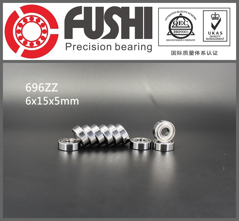 696ZZ Bearing ABEC-5 10PCS 6x15x5 MM Miniature 696Z Ball Bearings 619/6 ZZ  EMQ Z3 V3 Quality abec 5 10pcs 696zz 6x15x5 mm miniature ball bearings 696 thin wall deep groove ball bearing 6962z 6 15 5mm fo 6mm shaft