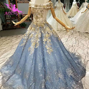 Image 1 - AIJINGYU Plus Size Dress Gowns For Older Brides 2021 2020 Indian Uk Austria Quality Princess Style Gown Wedding Dresses For Sale