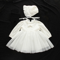 Baby Girls Birthday Dresses Long Sleeve Party Wedding Ball Gown Newborn Infant Christening Dress Kids Clothes for 0 2 Years