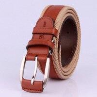 Unisex Canvas Belt For Jeans Luxury Fashion Men Women Men S Belt Pu Leather Woven Canvas