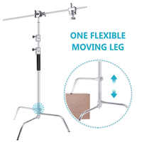 Neewer Upgraded Heavy Duty Stainless Steel C-Stand with Hold Arm and Grip Head for Photography Reflectors/Softboxes/Monolights