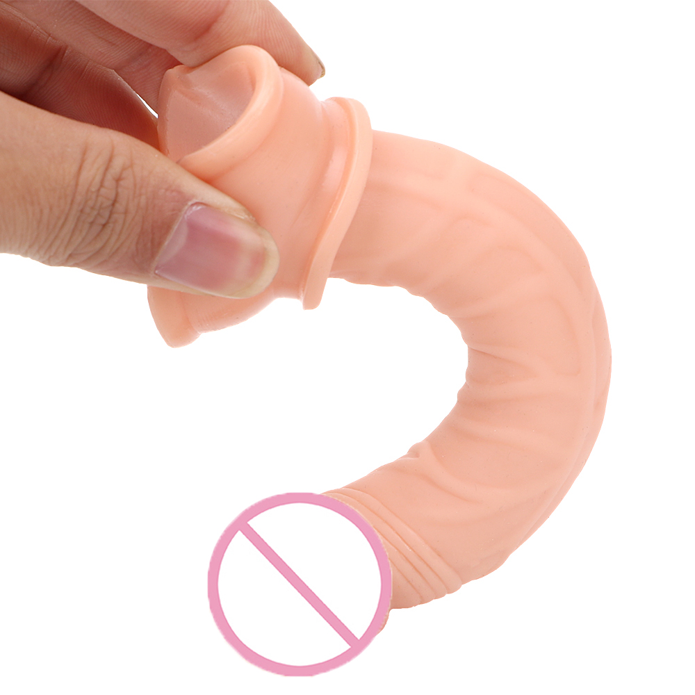 IKOKY Small Dildo Jelly Suction Cup Female Masturbation Realistic Penis G-spot Orgasm Anal Plug Sex Toys for Women Adult Product
