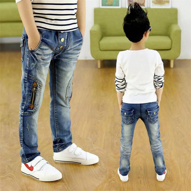 2a0c8f6ee Crianças calças de brim com zíper