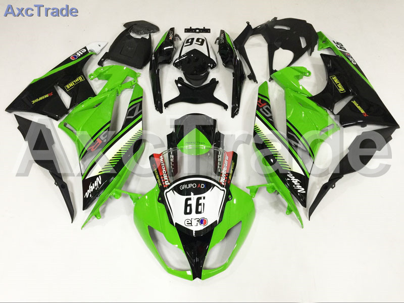 Motorcycle Fairings For Kawasaki Ninja ZX6R 636 ZX-6R 2009 2010 2011 2012 09 10 11 12 ABS Plastic Injection Fairing Bodywork Kit plastic fairings for kawasaki zx6r 2011 body kits 636 zx 6r 2010 2009 2012 white black bodywork zx6r 09 10