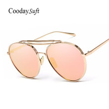 Pilot Classic Women Men Fashion Sunglasses Mirror Pink metal Frame High Quality Retro Female Sun glasses Today offers aviation