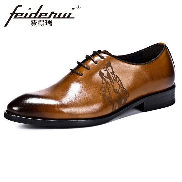 New Arrival Formal Dress Genuine Leather Men's Oxfords Luxury Designer Handmade Male Wedding Quarter Brogue Shoes For Man ASD90