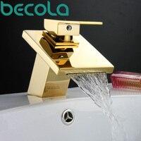 Free Shipping BAKALA Fashionable Tap Bathroom Gold Mixer Single Handles Single Hole Surface Mounted Faucet LT