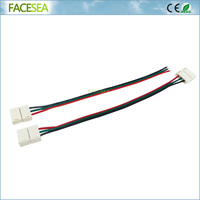 100pcs/lot 10mm 3pin LED Connector Wire cable PCB free welding 15cm for LED Flexible Strip