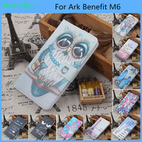 Hot! Cartoon Pattern PU Leather Cover Case Flip Card Holder Cover For Ark Benefit M6 Wallet Phone Cases