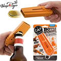 100% Original Cap Zappa bottle opener cap launcher with Keyring,Cap shooting Fly Bar Kitchen Bottle Opene Launcher W/ Retail box