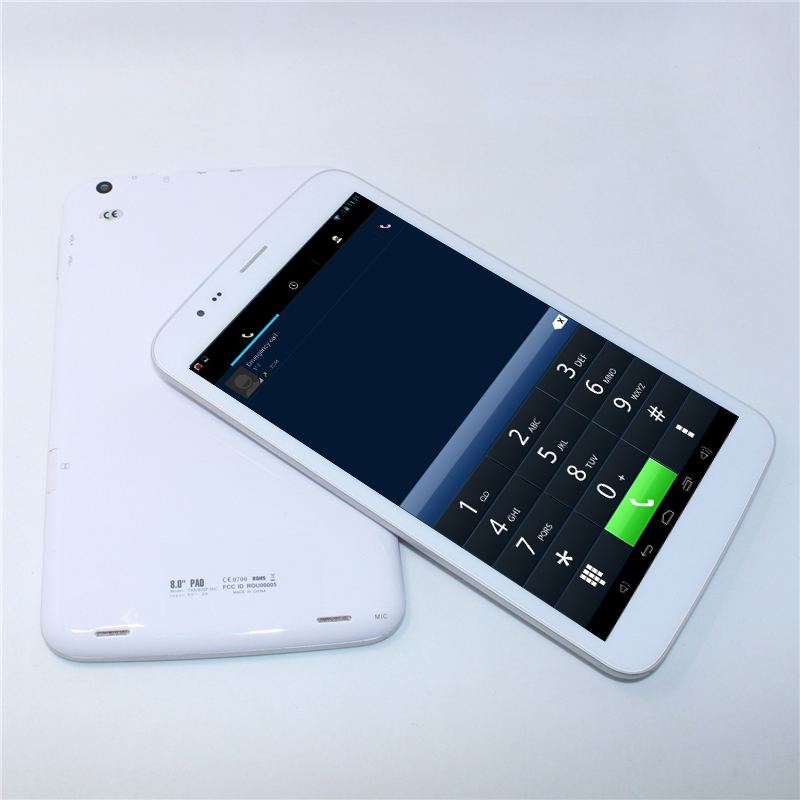 ips screen 1GB/8GB WiFi g-sensor 8 inch mtk8389 Quad Core Android 4.2 Dual cameras FM Wifi1280*800 phone call tablet pc