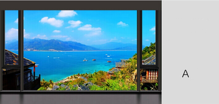 2015 Customize Size Mediterranean Sea View Stereoscopic 3D Fake Window Wallpaper Bedroom Living Room TV Backdrop Photo In Wallpapers From Home