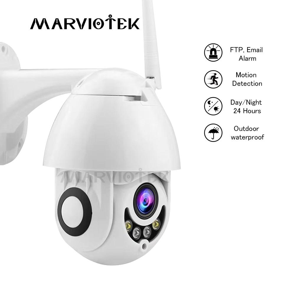 1080 P caméra IP Wifi Mini caméra dôme de vitesse HD Surveillance vidéo PTZ sans fil bidirectionnel Audio caméra de vidéosurveillance 1080 P Vision nocturne P2P