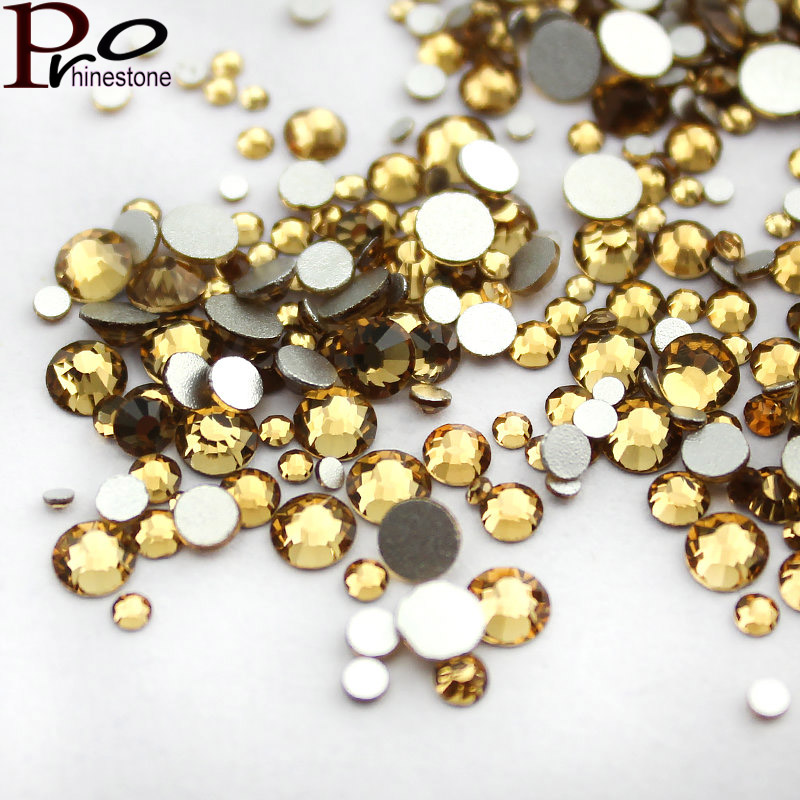 Two kinds of mixing Topaz Nail Art Rhinestone Luxury 3D Nail Decoration for DIY strass glitters Non HotFix crystals art of war