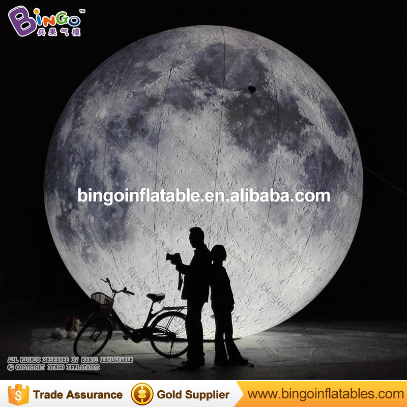 Free shipping LED lighting inflatable moon balloon for party decoration romantic moon model toy for stage prop toy planet