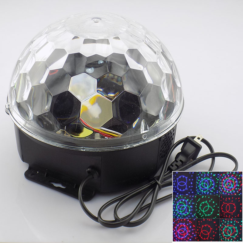 LED Mini DJ Disco Ball Light Stage disko Lighting Christmas Party KTV Festival Dancing Colorful Rotating Bulb Lamp Magic Ball rg mini 3 lens 24 patterns led laser projector stage lighting effect 3w blue for dj disco party club laser