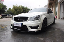 Carbon Fiber Front Lip Spoiler Body Kit Designed For 2012+ Benz W204 C204 C63 AMG 4Dr Only Of The V  Style