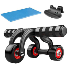 3-Wheel Abdominal Roller Coaster Home Sports Body Arm Waist Gym AB Exercise Sturdy Muscle Trainer Wheel Fitness Equipment
