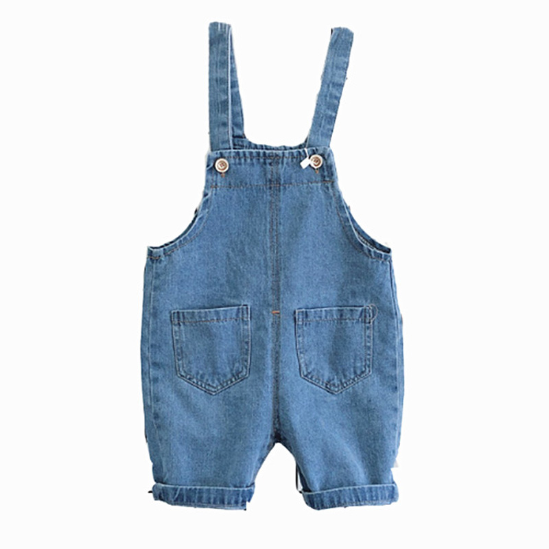 8018f67f3273 9-24 Month Baby Boy Overalls Summer Girls Denim Jeans Shorts Toddler Baby  Suspender Shorts Casual Infant Jumpsuit Shorts DQ309