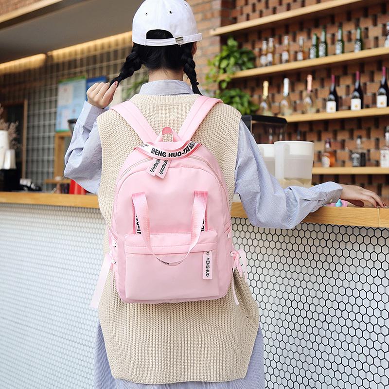 Menghuo Large Capacity Backpack Women Preppy School Bags For Teenagers Female Nylon Travel Bags Girls Bowknot Backpack Mochilas (11)