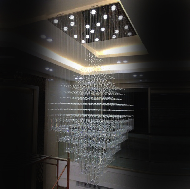 2017 new luxury crystal chandelier led living room lamp chandelier large modern crystal. Black Bedroom Furniture Sets. Home Design Ideas
