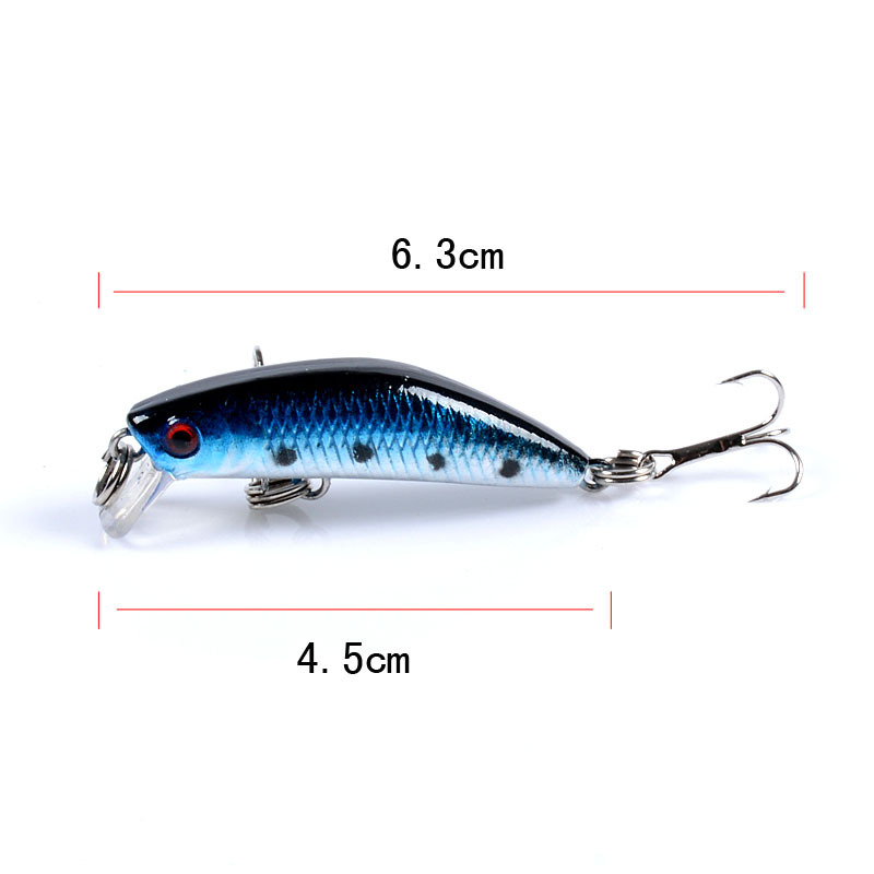 minnow bait 9 6cm 9 8g pencil lure 3D bionic eye treble hooks Outdoors plastic fishing accessories sinking Artificial bait lure in Fishing Lures from Sports Entertainment